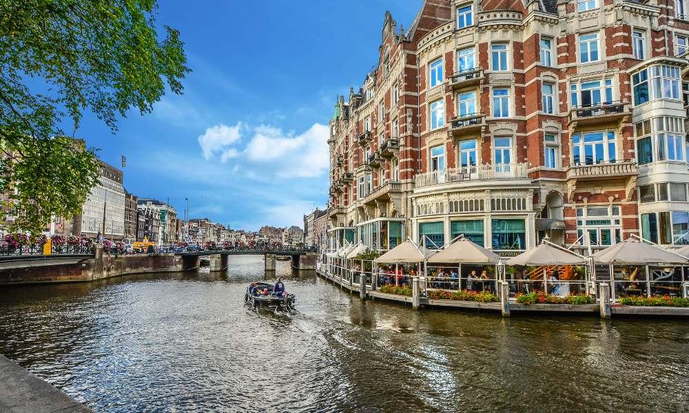 Die Kanäle in Amsterdam