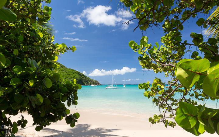 Der Strand Anse Marcel auf der französischen Seite von St. Martin © Steve Heap / Shutterstock.com