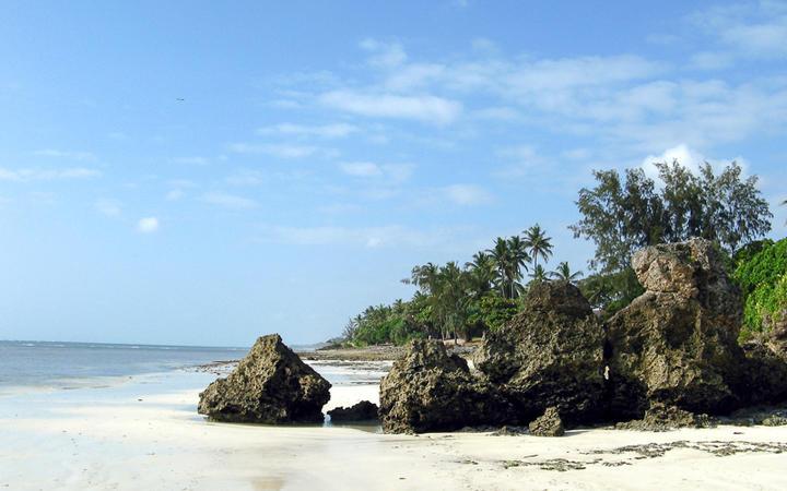 Der feinsandige Diani Beach Strand, Südküste Kenia © Kim Briers / Shutterstock.com