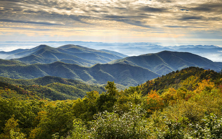 Blue Ridge Parkway Nationalpark in der Nähe von Asheville © Dave Allen Photography / shutterstock.com