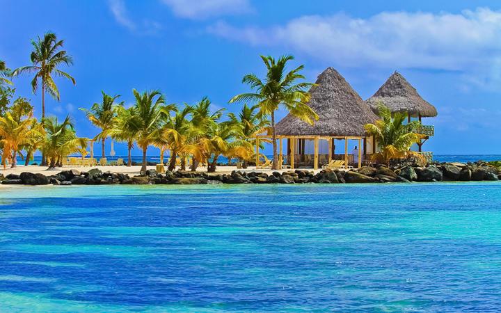 Strand von Punta Cana mit Palmen © Cedric Weber / Shutterstock.com
