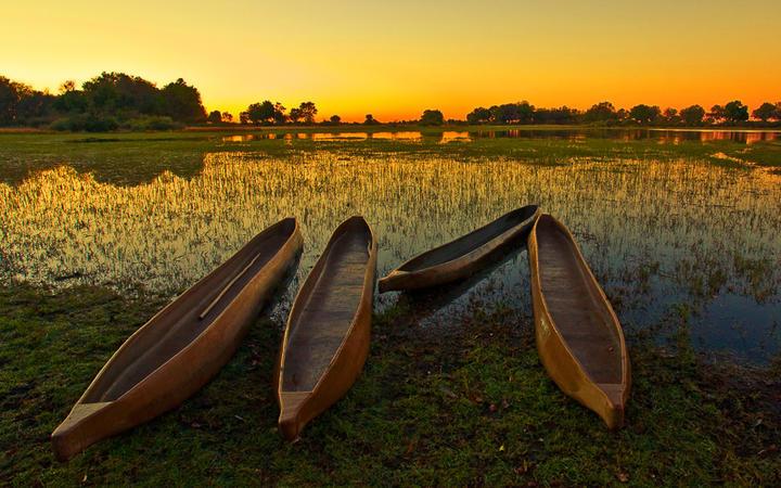 Sonnenaufgang über dem Okavangodelta © Pal Teravagimov / Shutterstock.com