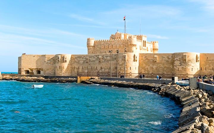 Die Qāitbāy-Zitadelle in Alexandria, Ägypten © krechet / shutterstock.com