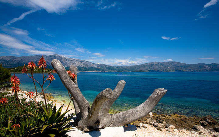 Blick auf das Meer von der Küste der Insel Korcula © Nolte Lourens / Shutterstock.com