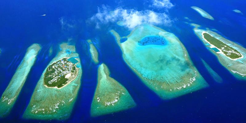 Die Malediven aus Vogelperspektive © wilar / Shutterstock.com